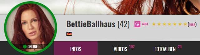 Bettie Balhaus (42) bei Big7.com