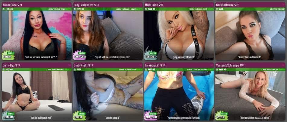 Riesige Auswahl an Livecam Girls