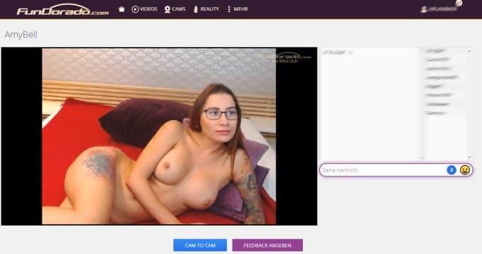 Amy Bell Livecam bei Fundorado mit Cam2Cam
