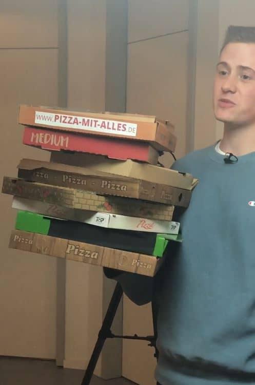 Marvin bei seinem Pizza Prank für Fundorado