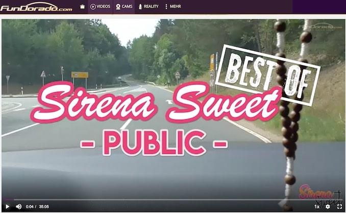 Best of Sirena Sweet Video Public bei Fundorado