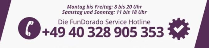 Fundorado Kundenservice an sieben Tagen in der Woche für dich da